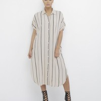 READ BETWEEN THE LINES STRIPED SHIRT DRESS
