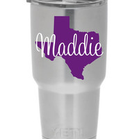 Yeti Cup Decal Texas