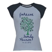 Family Reunion: Custom Junior Fit Cap Sleeve Baseball T-Shirt