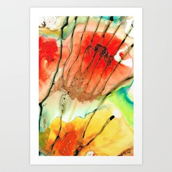Abstract Red Art - The Promise - Sharon Cummings Art Print by Sharon Cummings