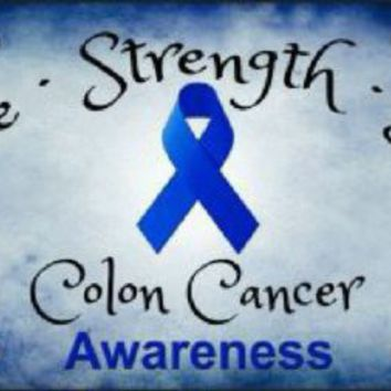 Colon Cancer Awareness Hope Strength Love Car Truck Plate Tag