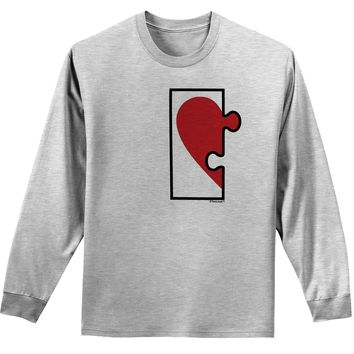Couples Heart Puzzle Long Sleeve Shirt - Left Piece or Right Piece