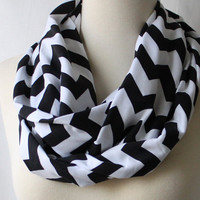 Infinity Scarf Chevron - Black and White Chevron Scarf FOLLOW AND ENJOY!