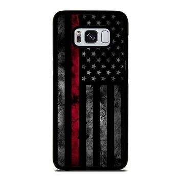 AMERICAN FLAG BLACK Samsung Galaxy S8 Case Cover