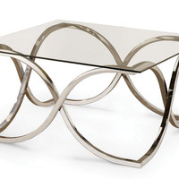 Granville Coffee Table GLASS/NICKEL