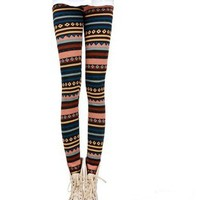 fashion stripe thickened leggings 4 colors