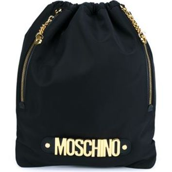 MOSCHINO   Logo Backpack   brownsfashion.com   The Finest Edit of Luxury Fashion   Clothes, Shoes, Bags and Accessories for Men & Women