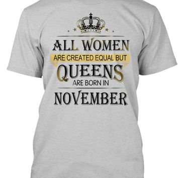 Queens Born In November Women T-Shirt
