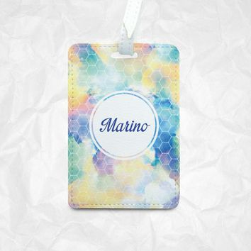 PU Leather Luggage Tag, Bag Tag, Travel Tag, Card Holder, Personalized Tag, Customizable Tag, Traveler Gift, Wedding Gift, Valentine Gift
