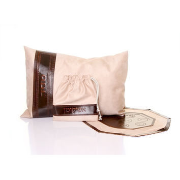 Leather Passover Cover & Pillow Set