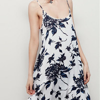 Nature's Bounty Blue Spaghetti Printed Dress