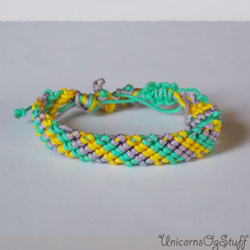 Candy bracelet, macrame bracelet , friendship bracelet , colorful bracelet