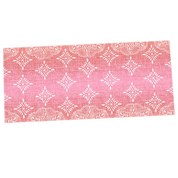 "Suzie Tremel ""Medallion Red Ombre"" Pink Desk Mat"