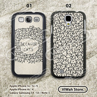 because cats galaxy s4, samsung galaxy s3 s4, cat galaxy s4 case,samsung cover skin, eco friendiy, personalized