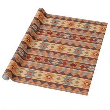 Southwestern Design Tan Wrapping Paper