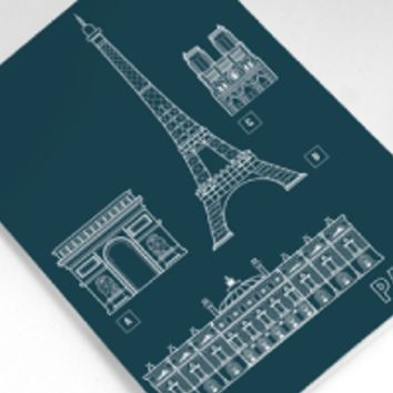 Structures of Paris Greeting Card