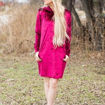 BELLA VELVET HOODED DRESS/TUNIC