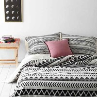 Allyson Johnson for DENY Geo Duvet Cover- Black & White