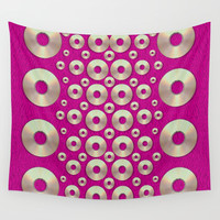 Going gold or metal on fern pop art Wall Tapestry by Pepita Selles