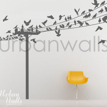 Vinyl Wall Sticker Decal Art - Birds of a Feather