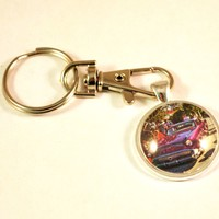 1957 Buick Hot Rod Vintage Car Key Chain Ring
