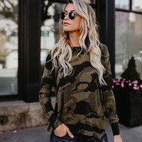 Editor In Chief Camo Zip Knit