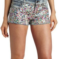 Joe's Jeans Women's Multicolor Sequin Cut Off Short