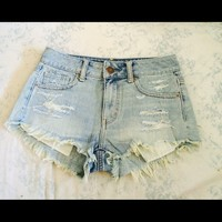 American Eagle high rise festival shortie