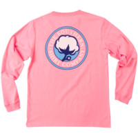 Southern Shirt Company Signature Logo Long Sleeve Tee- Rose Pink