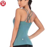 Lululemon New fashion solid color women sports leisure straps top shirt