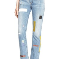 Women's Aries 'Norm' Taped Straight Leg Jeans,