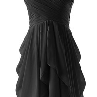 Strapless Ruched Layered Mini Dress