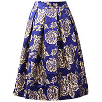 Floral Pleated A-Line Mini Skirt