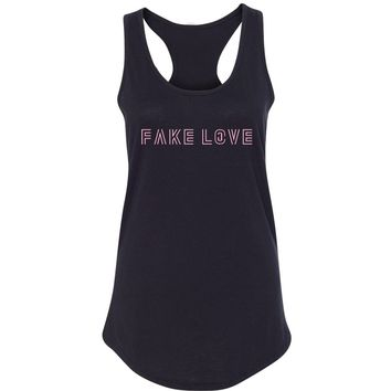 "BTS ""Fake Love"" Racerback Tank Top"