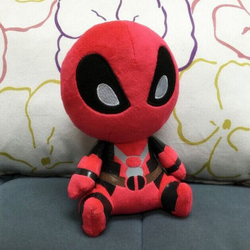 20CM Marvel Movie Deadpool Spiderman Plush Doll Toy Figure Dolls Brinquedo Kids Toys Gift Free Shipping