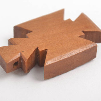 Wooden cross necklace handmade wooden necklace religious gifts wooden jewelry
