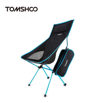 TOMSHOO Portable Outdoor Camping Hiking Fishing Chair Lounger Chair Ultra Lightweight Folding Chair