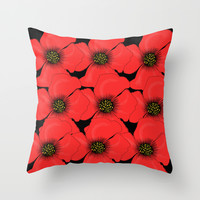 Poppies Throw Pillow by Veronica Ventress