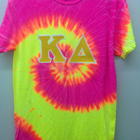 Kappa Delta Sorority Small Tie Dye T Shirt -- Ready to Ship!