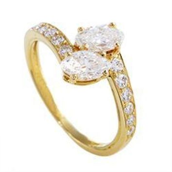 DCCKG2C Cartier Yellow Gold Marquise and Round Diamond Ring