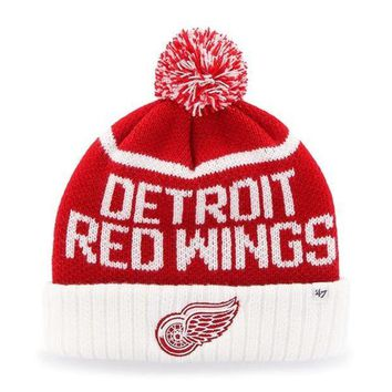ONETOW NHL Detroit Red Wings Linesman Cuff Knit Hat