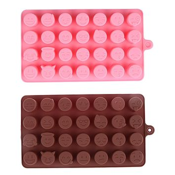 28-even DIY Emoji Cake Chocolate Cookies Ice Cube Soap Silicone Mold Tray Baking Mold Personality Expression Ice mould Maker