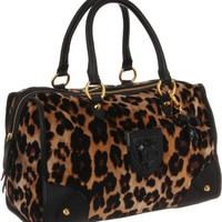 Juicy Couture Wild Things Leopard Velour Satchel