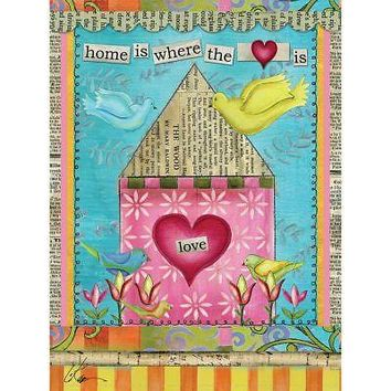 Wells Street by Lang Home Is Where The Heart Is Mini Garden Flag by Lisa Kaus,