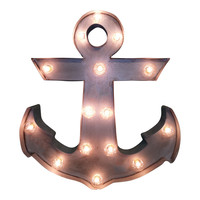 Anchor Symbol Marquee Sign Light