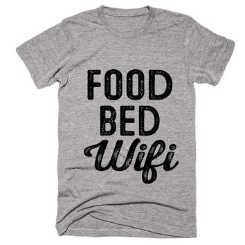 food bed Wifi t-shirt