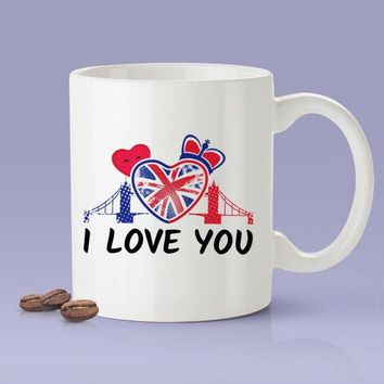 I Love You / British Lover Mug - London, England Mug [Gift Idea For Him or Her - Makes A Fun Present] I Love You