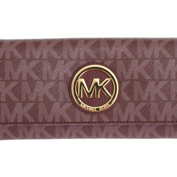 Michael Kors Purple FULTON Continental Wallet