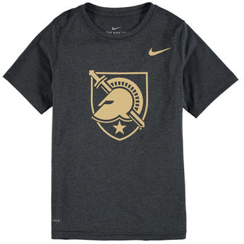 Youth Nike Anthracite Army Black Knights Logo Legend Performance T-Shirt