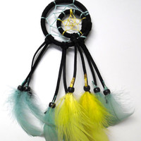 Mini Moon and Star Dream Catcher, car or bedroom hanging decor